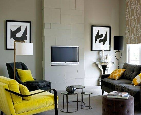 Yellow Living Room Wall Color Moreover