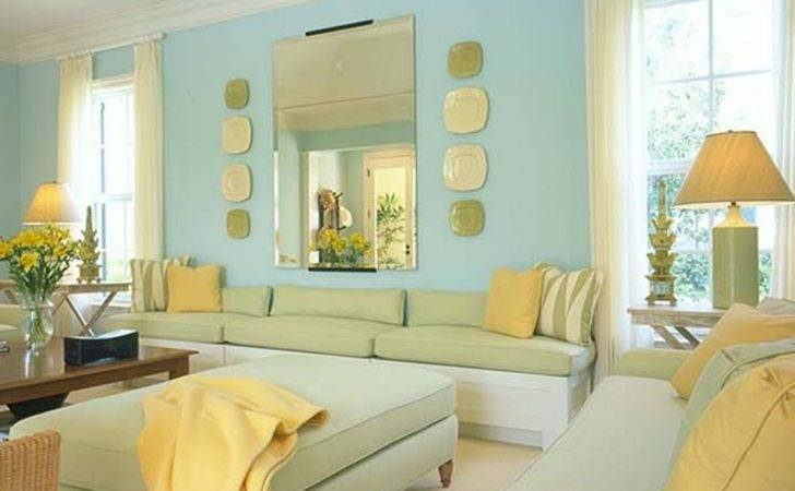 Yellow Living Room Your Home Design Planning Blue