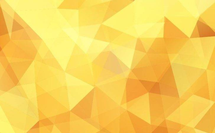 Yellow Low Poly Design Abstract Vector Illustration