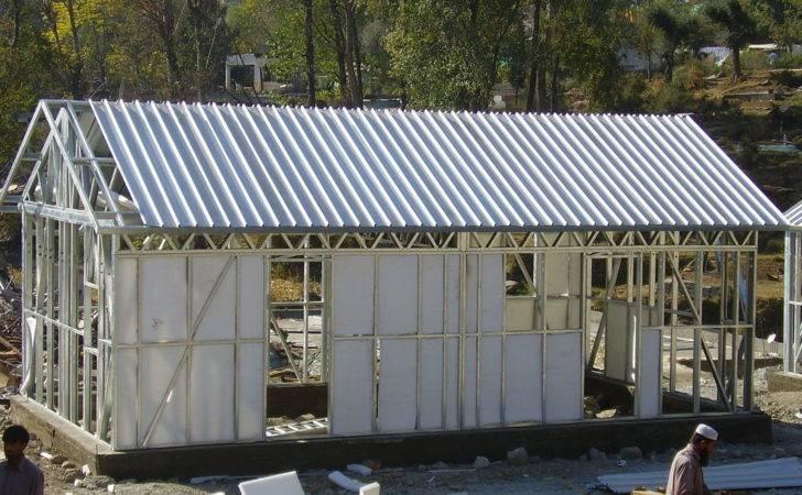 Yellow Modular Homes Light Steel Frame Prefab House Kits Living