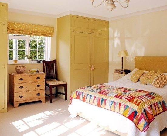 Yellow Ochre Bedroom Decorate Orange