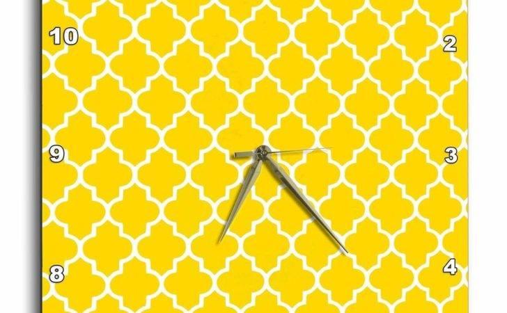 Yellow Quatrefoil Pattern Contemporary Moroccan Tiles Mod Ebay