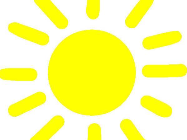 Yellow Sunshine Clip Art Clker Vector