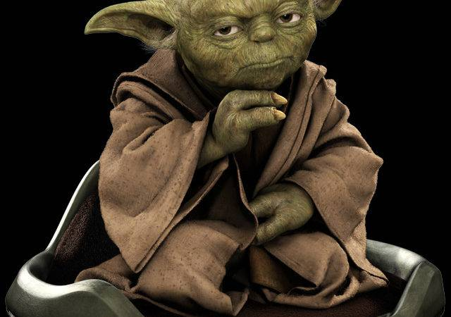 Yoda Using Hover Chair