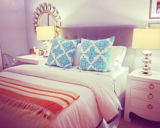 Young Adult Bedroom Ideas Using Purple Orang Color