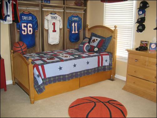 Young Boys Sports Bedroom Themes Room Design Ideas