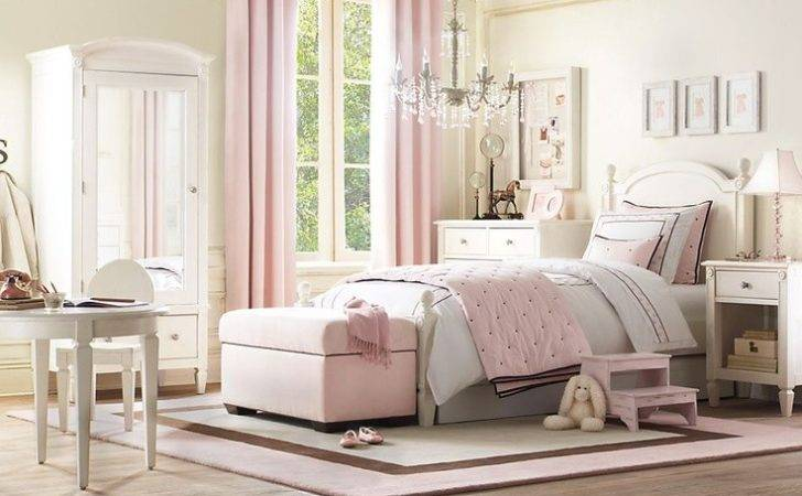 Young Lady Bedroom Chanel Pink Accents Cream Chocolate