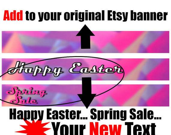 Your Etsy Shop Banner New Text Vacation