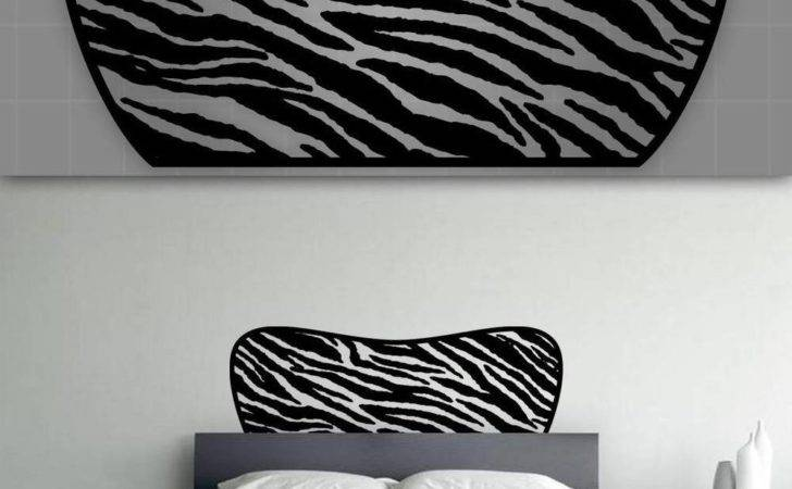 Zebra Headboard Wall Decal Bedroom Decor
