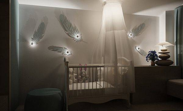 Zen Baby Room Soft Soothing Wall Sconces