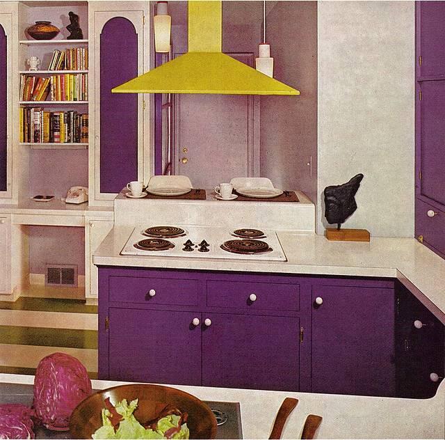Zweig Kitsch Stuff Flashback Purple Yellow Kitchen